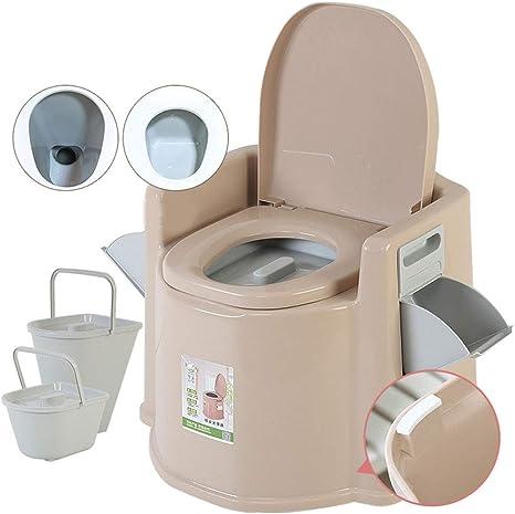 Portátil Químico Baño WC con Tapa& Reposabrazos para Camping ...