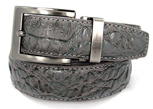 Crocodile Leather Belt (36, Grey) #14 (Faux Crocodile Belt)