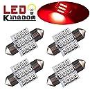 "LEDKINGDOMUS 4 X 31mm 1.25"" 12SMD Festoon Car Map Dome Pure Red LED light DE3175 3021 3022"
