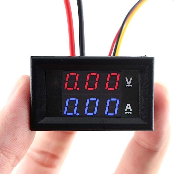 Medidor de voltaje Pantalla LED Medidor de voltaje Volt/ímetro Volt/ímetro impermeable Bater/ía Coche Auto 12V Volt/ímetro