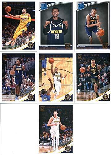 2018-19 Donruss Basketball Denver Nuggets Team Set of 7 Cards: (Rookies included) Jamal Murray(#60), Gary Harris(#70), Will Barton(#80), Paul Millsap(#90), Nikola Jokic(#100), Jarred Vanderbilt(#151), Michael Porter Jr.(#182)