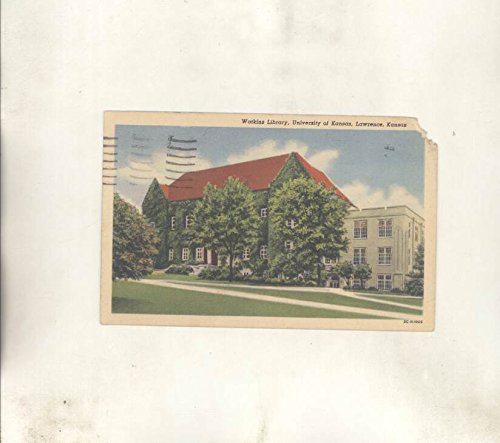ry University of Kansas Lawrence KS ORIGINAL Postcard (Kansas Ks Postcard)