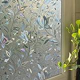 ILOVEDECOR Removable Recyclable Glass Door Window Film 3D Flower Sticker (Style1)