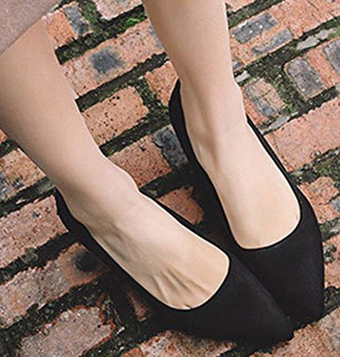 Escarpins Aisun Noir Kitten keel Bout Femme Sexy Basse Pointu 0Zq70r