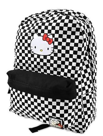 b2092648105 Vans Checkerboard Hello Kitty Backpack/Rucksack: Amazon.co.uk: Clothing