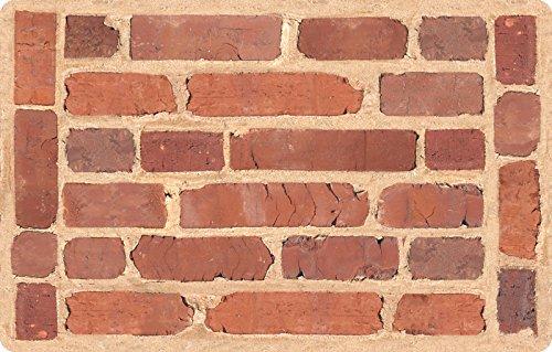 Faux Flooring Framed Brick Mat, 23 by 36-Inch, Multicolor (Brick Patio Flooring)