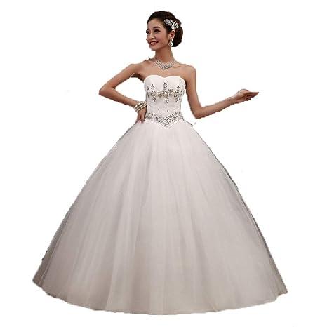 Vestidos de novia Las mujeres sin tirantes de cristal con ...