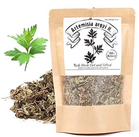 EidolonGreen [China Medicinal Herb] Chinese Mugwort (ai ye/艾葉/艾蒿/aihao/강화 약 쑥 차/Oriental Wormwood ) 100% Natural Dried Bulk Herbs 3 Oz (88g)