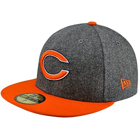 d544e707 Image Unavailable. Image not available for. Color: NFL New Era Chicago Bears  Melton Basic 59FIFTY Fitted Hat ...