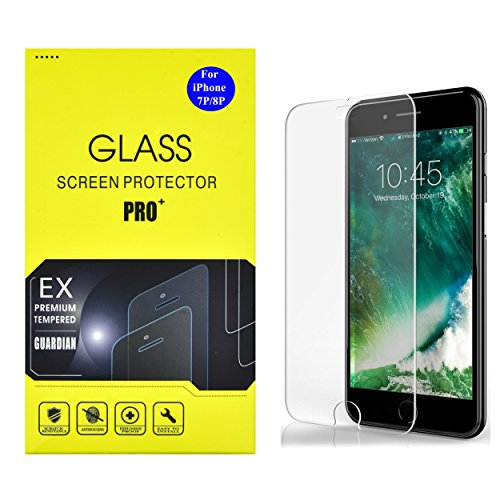 AlphaCell Tempered Glass Screen Protector compatible with iPhone 8 Plus / iPhone 7 Plus , Case Friendly | 3D Touch Sensitive | Ultra-Thin | Scratch & Shatter Resistant [2 Pack]