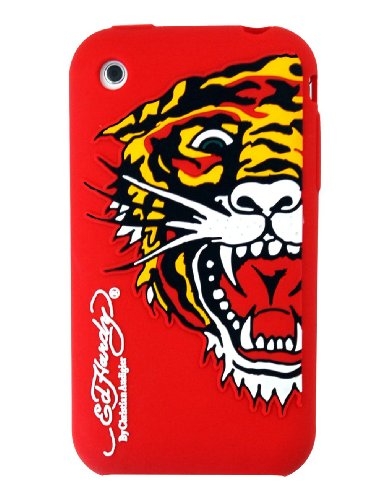Ed Hardy Silicone Tiger Skin for iPhone 3G - Red