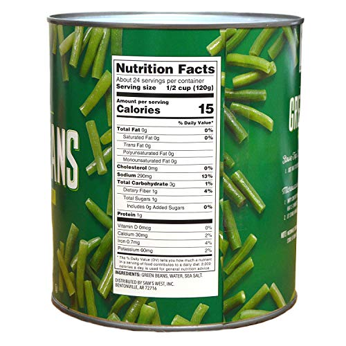 Amazon com : Member's Mark Cut Green Beans (6 lbs  5 oz  can