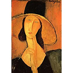The Museum Outlet - Modigliani - Portrait of a woman with hat - Poster (24 x 18 Inch)