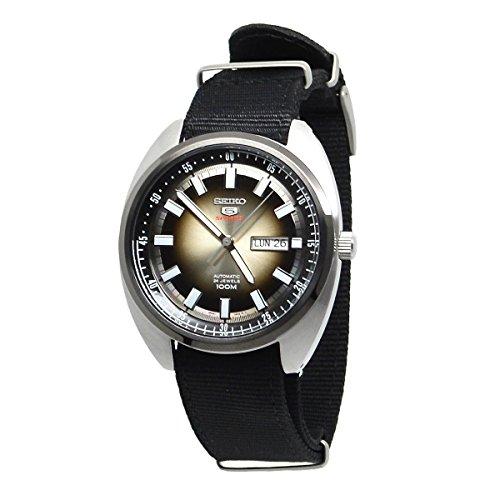 SEIKO 5 'Turtle' Sports 100M Watch Gray Gradation Dial with Black Nylon Watch - Turtle Mechanical