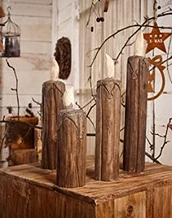 Holz Deko Kerze aus Holz