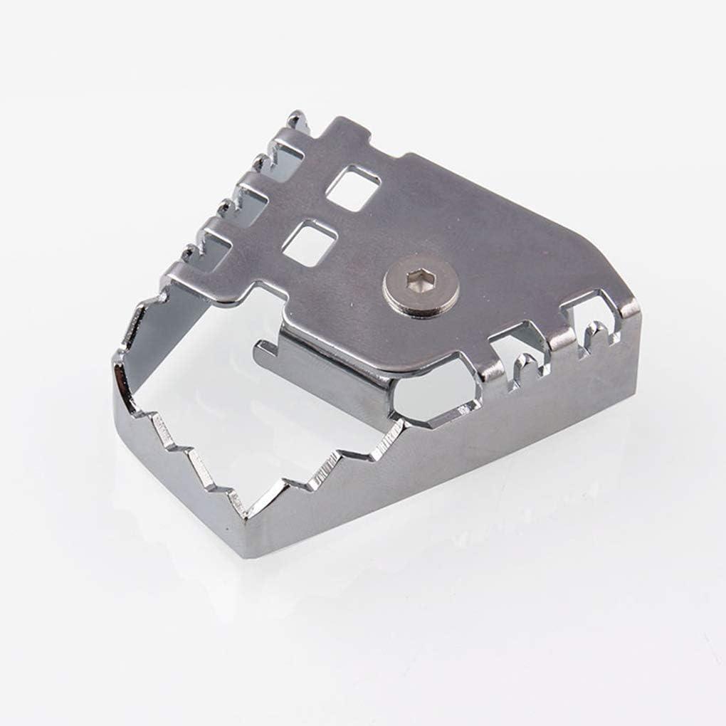 Luckiests Di Ricambio per R1200GS F800GS F700GS F650GS R1150GS Argento Posteriore Leva Freno Pedale amplificato Peg Pad Extender