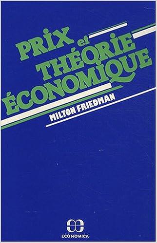 En ligne Prix et théorie économique pdf