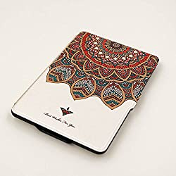 Kandouren - Case Cover for Amazon Kindle Paperwhite - Totem Art Skin,Lighted Slim Leather Cover with Autowake(Fit 6 inch 6th generation new Kindle Paperwhite 2013 2015 2016)