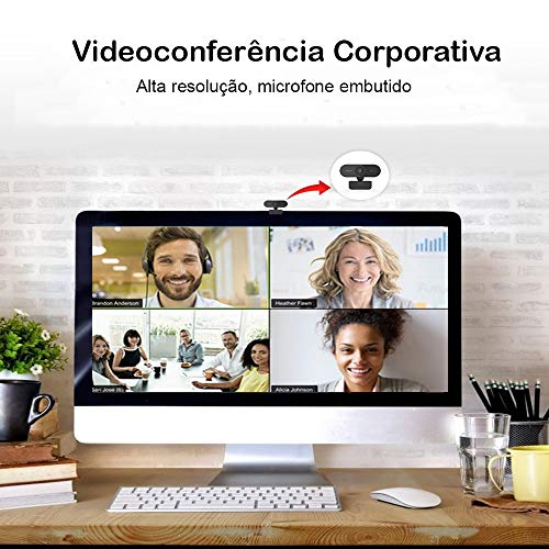 Webcam camera USB Full HD 1080P com microfone