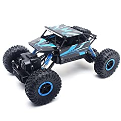 The Rock Crawler remote controlled car is about 270mm long, 160mm wide and 130mm high.Excellent to climb over objects indoor/outdoor, run on smooth, uneven or rough terrain like ground, grass land, sand land and rocks.Manufactured by Velocity...
