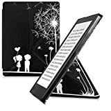 kwmobile Cover case for Kobo Aura H2O Edition 2 with stand - Ultra slim case made of synthetic leather Dandelion Love in white black