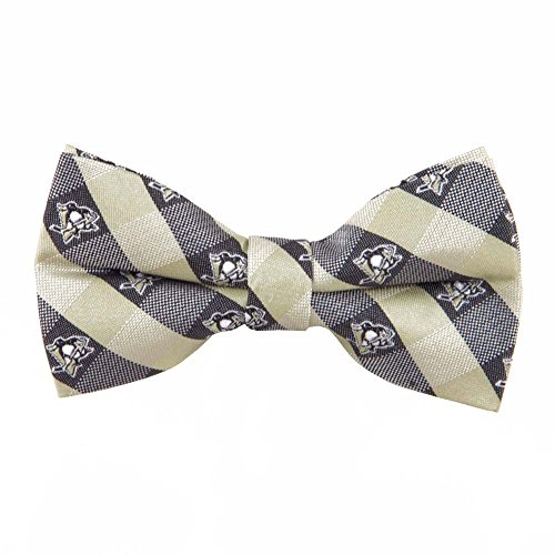 Pittsburgh Penguins Checked Logo Bow Tie - NHL Hockey Team Logo