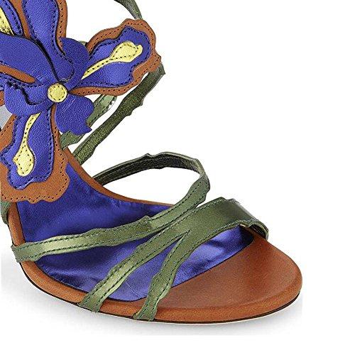 L@YC Talones De Las Mujeres Verano Y OtoñO Bellas Con Overprinting Dew Bag Dance Shoes A