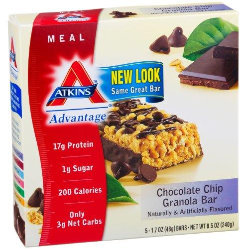 Atkins Advantage Bars - Chocolate Chip (Atkins Advantage Chocolate Chip Granola Bar)