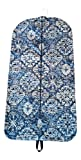 Carry It Well Women's Black and Blue Medallion Hanging Garment Bag