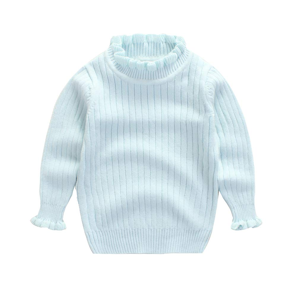 KIMJUN Toddler Baby Girl Boy Pullover Sweater Kids Solid Cable Knit Sweatshirt 1-7T