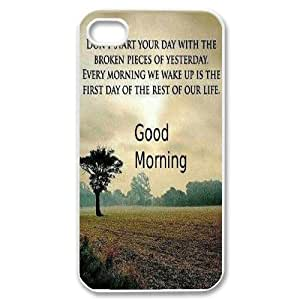 Custom Colorful Case for Iphone 4,4S, Good Morning Cover Case - HL-517995