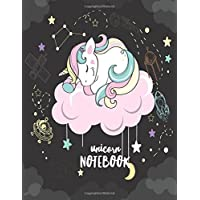 Unicorn Notebook: Unline-Large Unruled Notebook 8.5x11 Blank Notebook, A4 notebook journal, Dairy, 120 pages-Kawaii Kids Girls Unicorn Notebook V.24