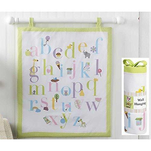 Ganz Alphabet Fun Hanging Wall Quilt Baby Nursery