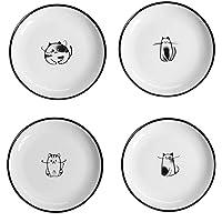 Plato de salsa de cerámica del gato