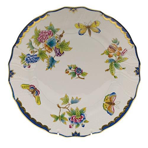 - Herend Queen Victoria Blue Porcelain Dinner Plate