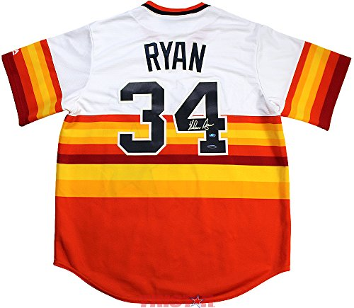 Nolan Ryan Signed Autographed Houston Astros Majestic Rainbow Replica Jersey TRISTAR COA (Ryan Replica Jersey)