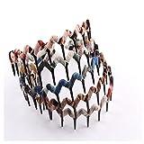 Lovef Assorted Color Women's Girls Fashion Korea Headband Plastic Teeth Comb Hairband Hair Hoop Color Style Random