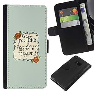iBinBang / Flip Funda de Cuero Case Cover - Barrie Escritor Cita Sea Niza motivación - HTC ONE M9