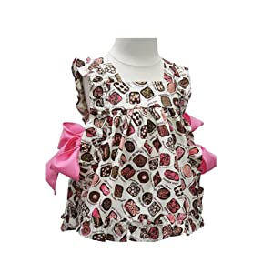 ASD Living Suzy Q Baby Apron with Candy Shop Design