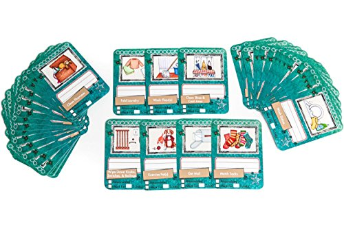 NEATLINGS Chore Cards Household Deck ● 48 Household Chores ● Reward & Responsibility ● Teal
