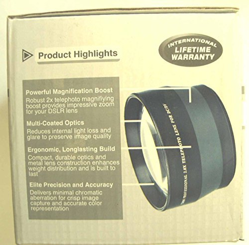 Digital Visions 2.0x 72mm Professional Telephoto Converter Lens by Digital Visions