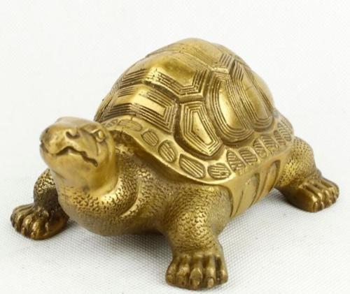 Liangliang988 Brass copper tortoise furnishing articles feng shui turtle god turtle bronze statue