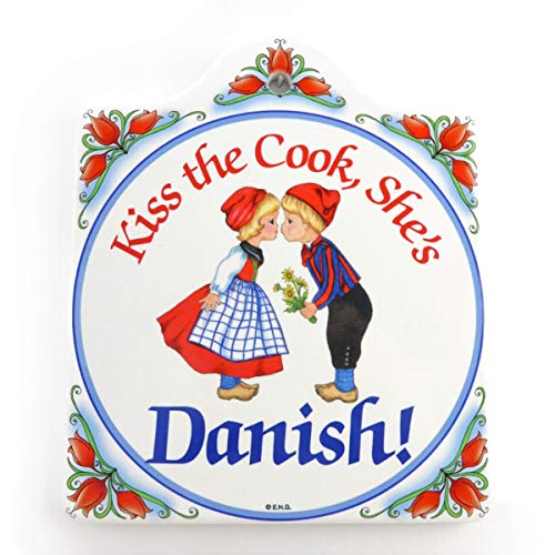 Essence of Europe Gifts E.H.G Danish Heritage Porcelain Cheeseboard with Cork Backing