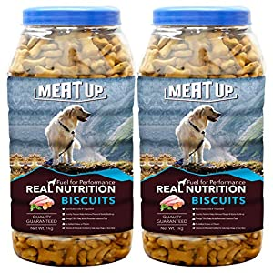 Meat Up Chicken Flavour Real Chicken Biscuit, 1kg (Buy 1 Get 1 Free)