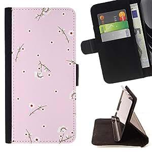 - Baby Pink Polka Dot Design - Estilo PU billetera de cuero del soporte del tir???¡¯????n [solapa de cierre] Cubierta- For Samsung Galaxy S4 Mini i9190 £¨ Devil Case £©