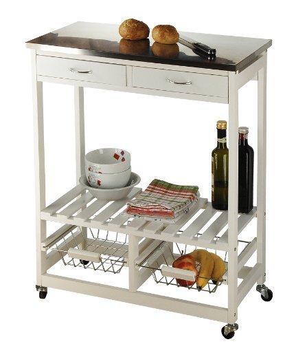 MyHome Kitchen Trolley, White HELU