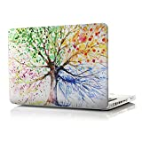 iCasso Macbook Pro 13 inch Case Rubber Coated Hard Shell Case For Macbook Pro 13 inch With CD-ROM Model A1278 (Four Seasons Tree)