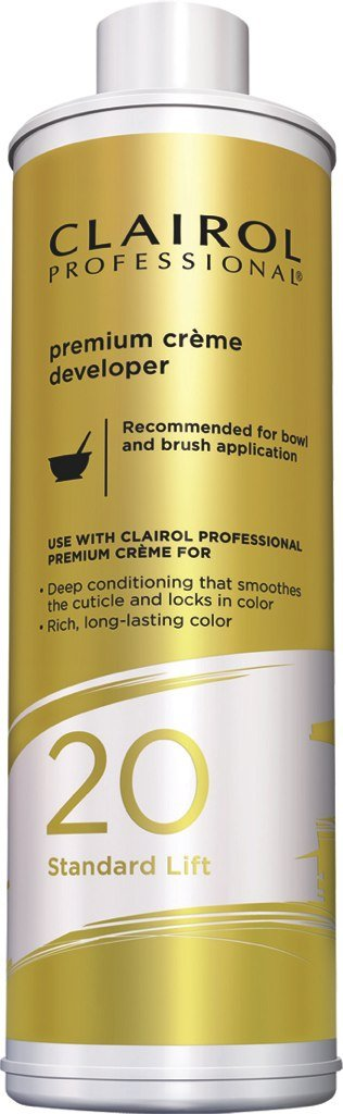 Clairol Professional Premium Creme 20, Volume Developer, 32 Ounce