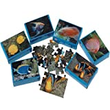 Dozen Assorted Mini Fish Theme Puzzles