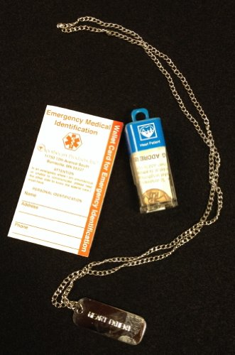 Blank Medical Id Jewelry Necklace by Emerg Alert